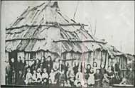 early mudgee bark hut school